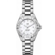 TAG Heuer Ladies Aquaracer Quartz Diamond Set Bracelet Watch WBD1414.BA0741