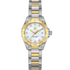 TAG Heuer Ladies Aquaracer Quartz Two Tone Diamond-set Bracelet Watch WAY1451.BD0922
