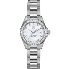 TAG Heuer Ladies Aquaracer Quartz Diamond-set Bracelet Watch WBD1415.BA0741
