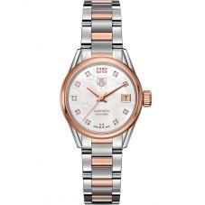 TAG Heuer Ladies Carrera Calibre 9 Diamond-set Two-Tone Bracelet Watch WAR2452.BD0772