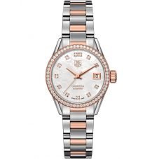 TAG Heuer Ladies Carrera Calibre 9 Two Tone Bracelet Watch WAR2453.BD0772