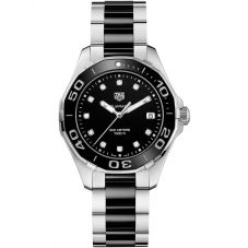 TAG Heuer Ladies Aquaracer Quartz Black Diamond-Set Bracelet Watch WAY131C.BA0913
