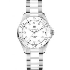 TAG Heuer Ladies Aquaracer Quartz White Diamond- set Bracelet Watch WAY131D.BA0914