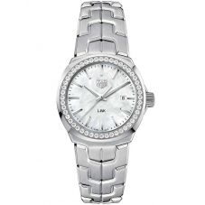 TAG Heuer Ladies Link Quartz Diamond Mother Of Pearl Bracelet Watch WBC1314.BA0600
