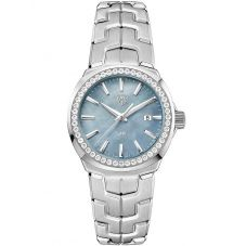 TAG Heuer Ladies Link Quartz Diamond Set Grey Mother Of Pearl Bracelet Watch WBC1315.BA0600