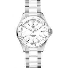 TAG Heuer Ladies Aquaracer Quartz White Bracelet Watch WAY131B.BA0914