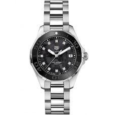TAG Heuer Ladies Aquaracer Quartz Diamond-set Bracelet Watch WAY131M.BA0748