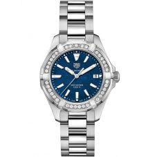 TAG Heuer Ladies Aquaracer Quartz Diamond-set Bracelet Watch WAY131N.BA0748