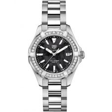 TAG Heuer Ladies Aquaracer Quartz Diamond-set Bracelet Watch WAY131P.BA0748