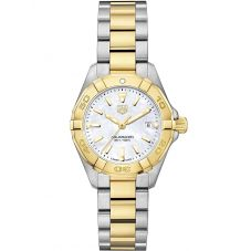 TAG Heuer Ladies Aquaracer Quartz Two Tone Bracelet Watch WBD1420.BB0321