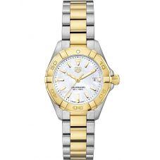 TAG Heuer Ladies Aquaracer Quartz Two Tone Bracelet Watch WBD1420.BB0321