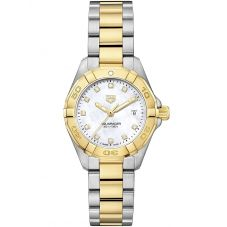 TAG Heuer Ladies Aquaracer Quartz Two Tone Bracelet Watch WBD1422.BB0321
