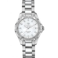 TAG Heuer Ladies Aquaracer Quartz Mother Of Pearl Diamond Watch WBD131B.BA0748