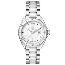 TAG Heuer Ladies Formula 1 Quartz White Ceramic Bracelet Watch WBJ141AC.BA0974