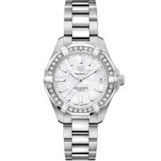 TAG Heuer Ladies Aquaracer Mother Of Pearl Diamond Set Dial Stainless Steel Bracelet Watch WBD1313.BA0740