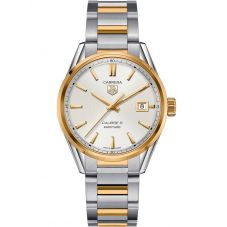 TAG Heuer Mens Carrera Calibre 5 Two Tone Bracelet Watch WAR215B.BD0783