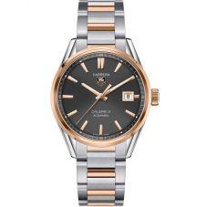 TAG Heuer Mens Carrera Calibre 5 Two Tone Bracelet Watch WAR215E.BD0784