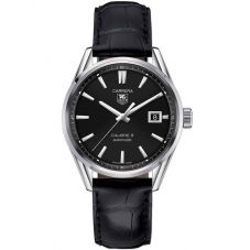 TAG Heuer Mens Carrera Calibre 5 Leather Strap Watch WAR211A.FC6180