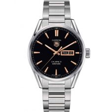 TAG Heuer Mens Carrera Calibre 5 Day Date Bracelet Watch WAR201C.BA0723