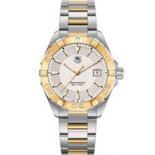 TAG Heuer Mens Aquaracer Quartz Two Tone Bracelet Watch WAY1151.BD0912