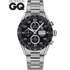 TAG Heuer Mens Carrera Calibre 16 Black Chronograph Bracelet Watch CV2A1R.BA0799