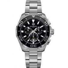 TAG Heuer Mens Aquaracer Quartz Chronograph Black Dial Bracelet Watch CAY111A.BA0927