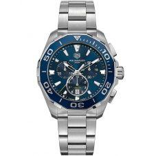 TAG Heuer Mens Aquaracer Quartz Chronograph Blue Dial Bracelet Watch CAY111B.BA0927