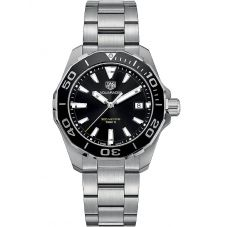 TAG Heuer Mens Aquaracer Quartz Black Dial Bracelet Watch WAY111A.BA0928