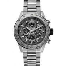TAG Heuer Mens Carrera Calibre Heuer01 Grey Phantom Titanium Bracelet Watch CAR2A8A.BF0707