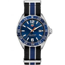 TAG Heuer Mens Formula 1 Quartz Blue Dial Fabric Strap Watch WAZ1010.FC8197