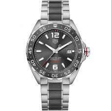 TAG Heuer Mens Formula 1 Calibre 6 Two Tone Ceramic Black Dial Bracelet Watch WAZ2011.BA0843