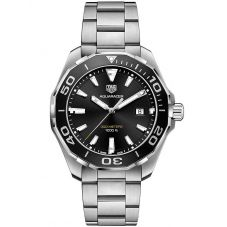 TAG Heuer Mens Aquaracer Quartz Black Bracelet Watch WAY101A.BA0746