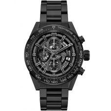 TAG Heuer Mens Carrera Calibre Heuer01 Black Skeleton Bracelet Watch CAR2A91.BH0742