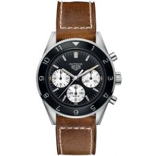TAG Heuer Mens Autavia Heritage Caliber Heuer02 Leather Strap Watch CBE2110.FC8226