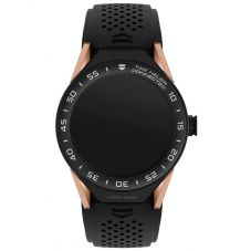 TAG Heuer Mens Connected Modular 45 Black Rubber Strap Smartwatch SBF8A8013.32FT6076
