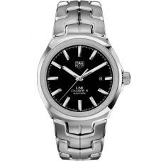 TAG Heuer Mens Link Calibre 5 Black Bracelet Watch WBC2110.BA0603
