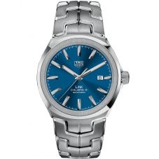 TAG Heuer Mens Link Calibre 5 Blue Bracelet Watch WBC2112.BA0603