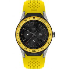 TAG Heuer Mens Connected Modular 45 Yellow Rubber Strap Smartwatch SBF8A8017.11FT6082