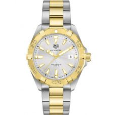 TAG Heuer Mens Aquaracer Quartz Two Tone Bracelet Watch WBD1120.BB0930
