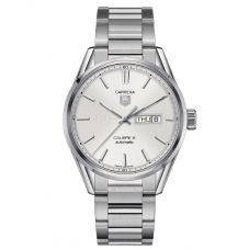 TAG Heuer Mens Carrera Calibre 5 Day Date Silver Bracelet Watch WAR201B.BA0723