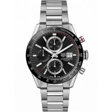 TAG Heuer Mens Carrera Calibre 16 Black Bracelet Watch CBM2110.BA0651