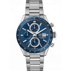 TAG Heuer Mens Carrera Calibre 16 Blue Bracelet Watch CBM2112.BA0651