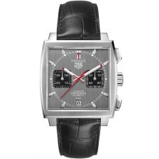 TAG Heuer Monaco Calibre 12 Final Edition Black Leather Strap Watch CAW211J.FC6476