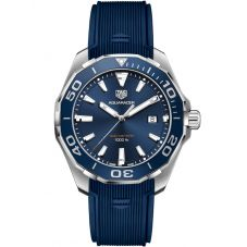 TAG Heuer Aquaracer Blue Rubber Strap Watch WAY101C.FT6153