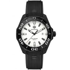 TAG Heuer Aquaracer Black Rubber Strap Watch WAY108A.FT6141