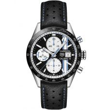 TAG Heuer Carrera Calibre 16 Fangio Limited Edition Black Leather Strap Watch CV201AT.FC6475
