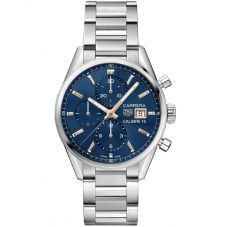 TAG Heuer Carrera Calibre 16 Blue Bracelet Watch CBK2115.BA0715