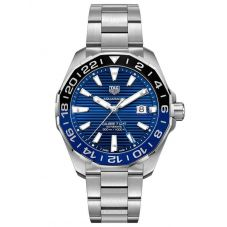 TAG Heuer Mens Aquaracer Calibre 7 GMT Automatic Blue Date Dial Stainless Steel Bracelet Watch WAY201T.BA0927