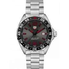 TAG Heuer Mens F1 Grey Brushed Sunray Dial Stainless Steel Bracelet Watch WAZ1018.BA0842