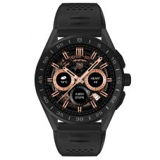 TAG Heuer Mens Connected Titanium Black Rubber Strap Smartwatch SBG8A80.BT6221